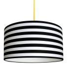 Circus stripe monochrome lampshade
