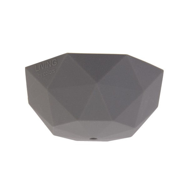 Ceiling light fitting cover : E faceted silicone pendant light fitting in lilac