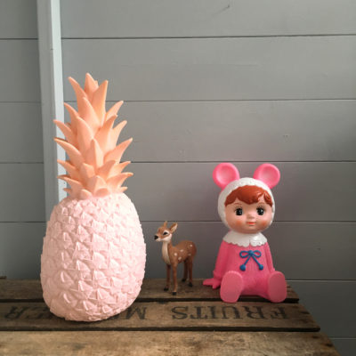 pina colada pineapple lamp in pastel pink love frankie creative lighting and interiors