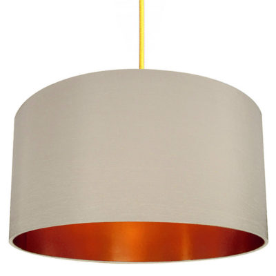 stone brushed copper lampshade