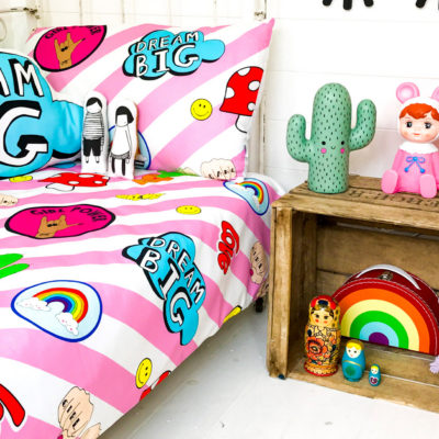 girl gang kids bed linen in pink