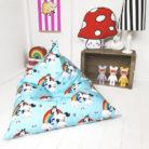 unicorn and rainbow childs beanbag
