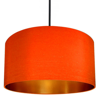 marmalade and brushed copper lampshade