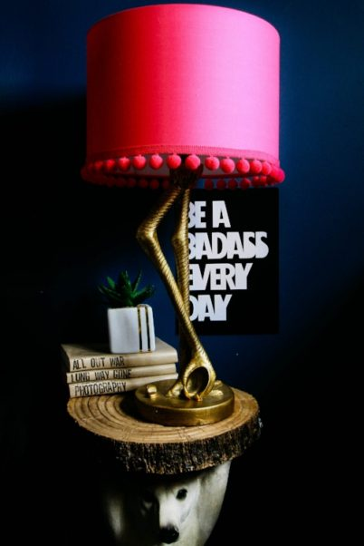 I Mean Just Look At That Lamp! Its Colour And Details Are Amazing I Love  The Fact That It Comes With Hot Pink Shade That Gives Off Beautiful Glow In  The ...