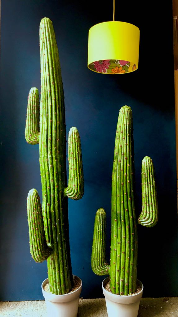 Large Faux Saguaro Artificial Cactus 3 Arms Love Frankie