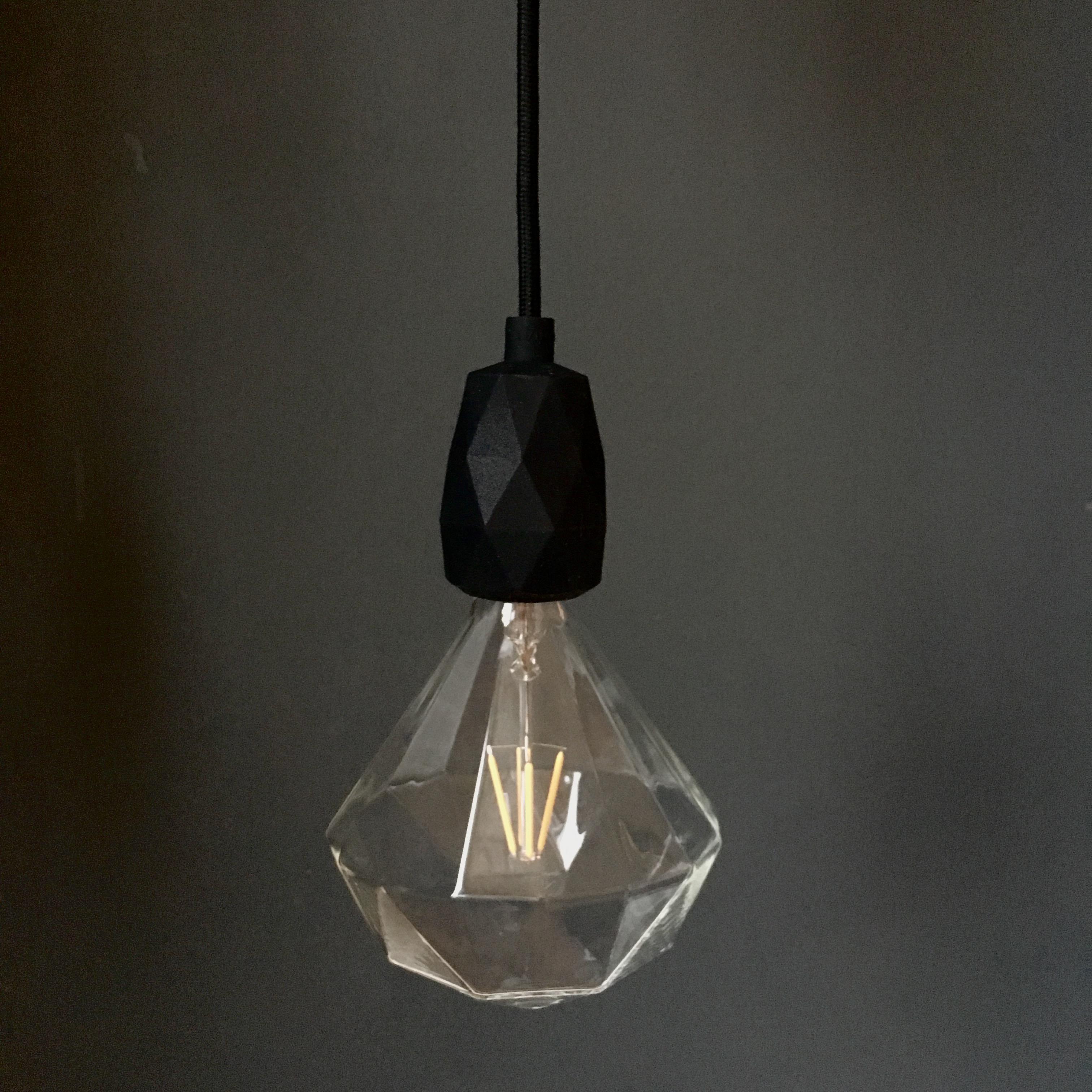 Black Diamond E27 Pendant Light Fitting
