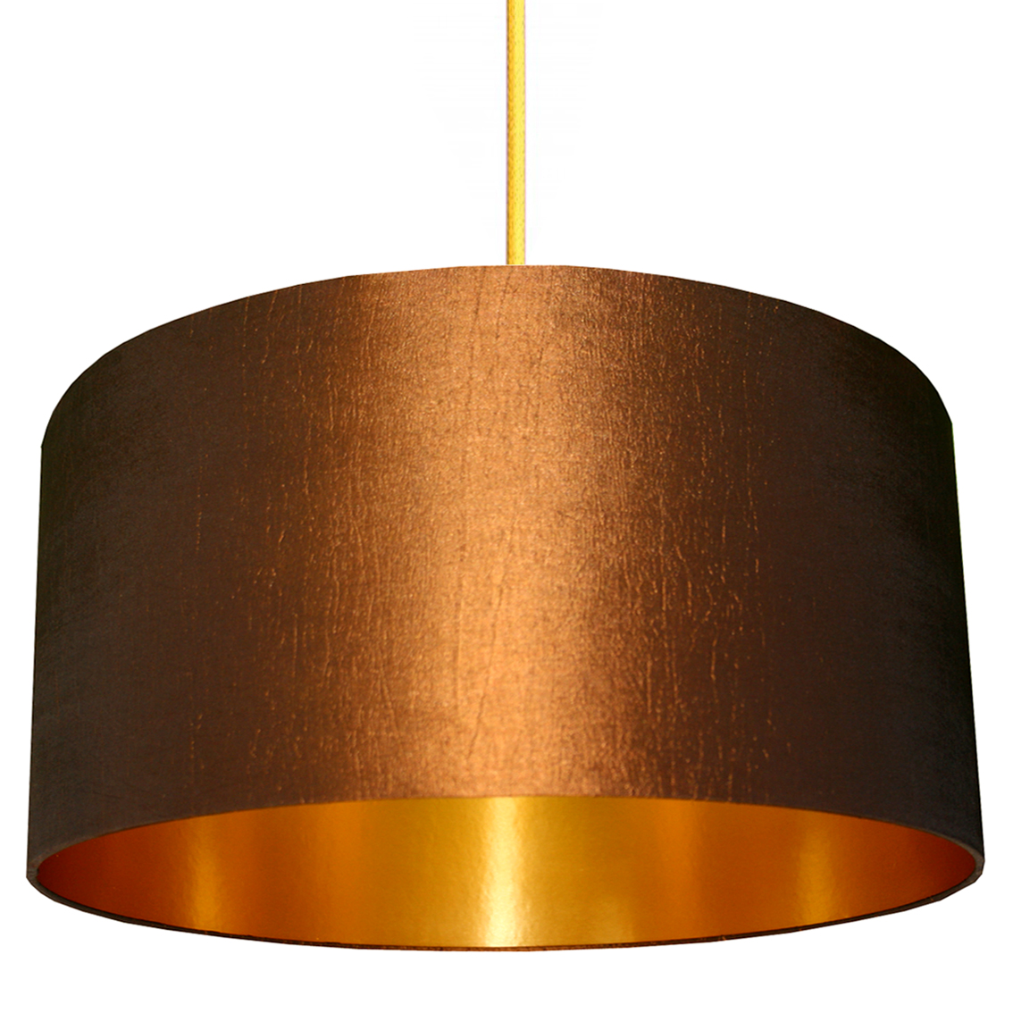 Tobacco handmade lampshade with gold lining love frankie chestnut and gold lampshade mozeypictures Image collections