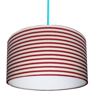 Ticking Lampshade in Cardinal Red