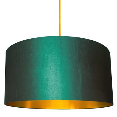 peacock lampshade with gold lining