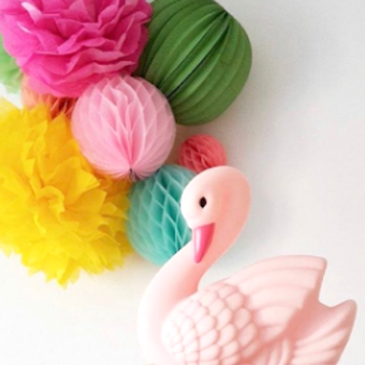 blush pink swan night light
