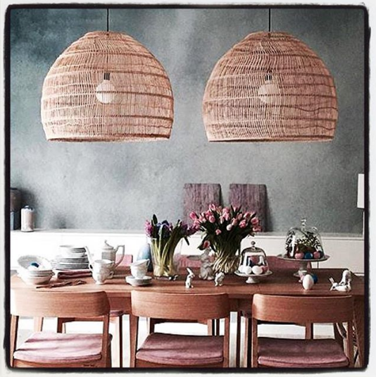 Woven Wicker Ceiling Pendant Light Natural Love Frankie