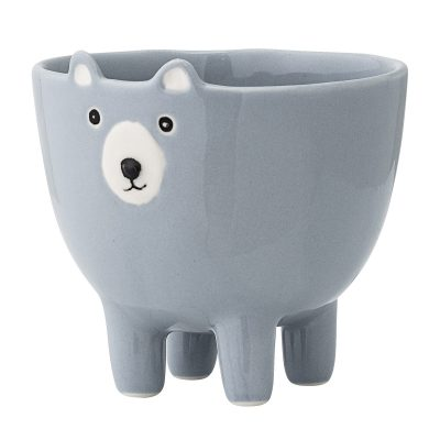 Mr Bear Face Bowl - Blue