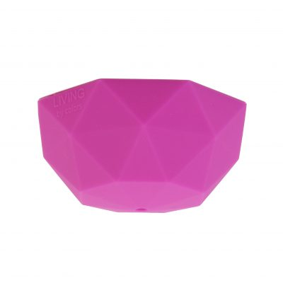 Faceted ceiling rose cover in hot pink