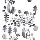 Woodland Folk Art Print