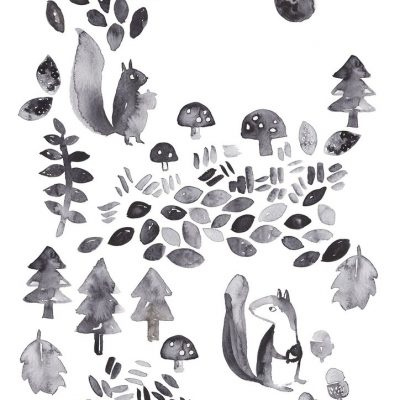 Woodland Folk Art Print