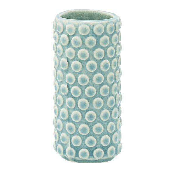 Green Bubble Dot Vase