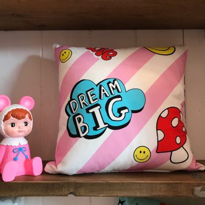 Girl Gang Cushion in Pink