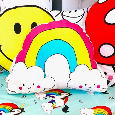 Rainbow in the Clouds Cushion