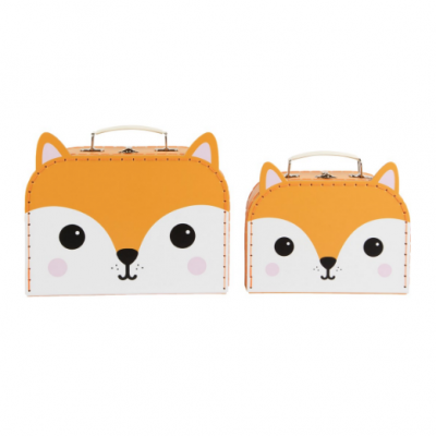 Set of 2 Fantastic Fox Suitcases
