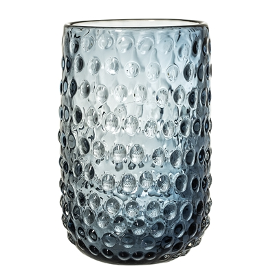 Bubble Dot Glass Vase in Midnight Blue