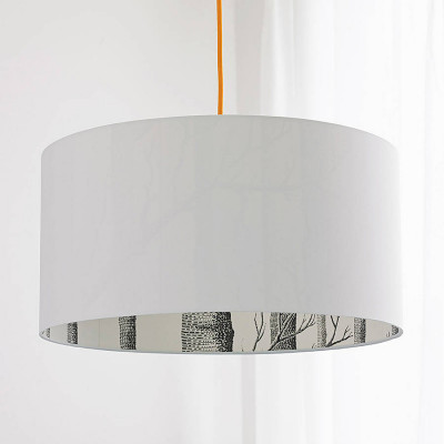 Cole & Son The Woods Silhouette Lampshade in White