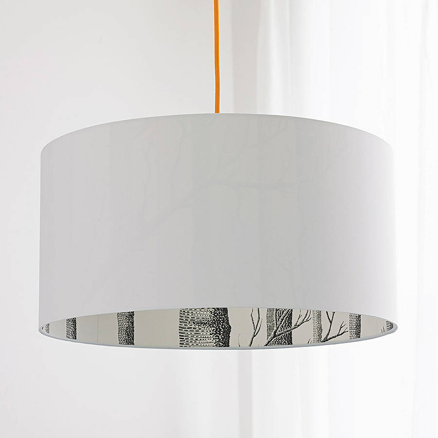 Cole & Son The Woods Silhouette Lampshade in White | Love Frankie