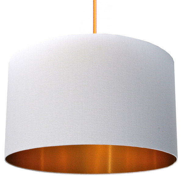 White and gold lampshade