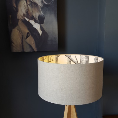 Cole & Son The Woods Wallpaper Silhouette Lampshade
