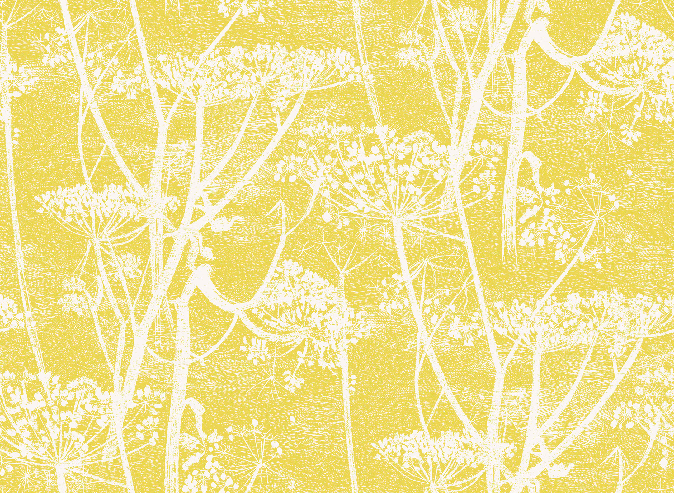 Cole Amp Son Cow Parsley Silhouette Lampshade In Mustard Love Frankie