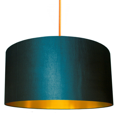 Petrol Blue Lamp Shade with Gold Lining designed by Love Frankie, Creative Lighting & Interiors Store