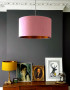 Blush Pink and Copper Lampshade