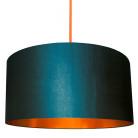 pretrol blue and copper lampshade