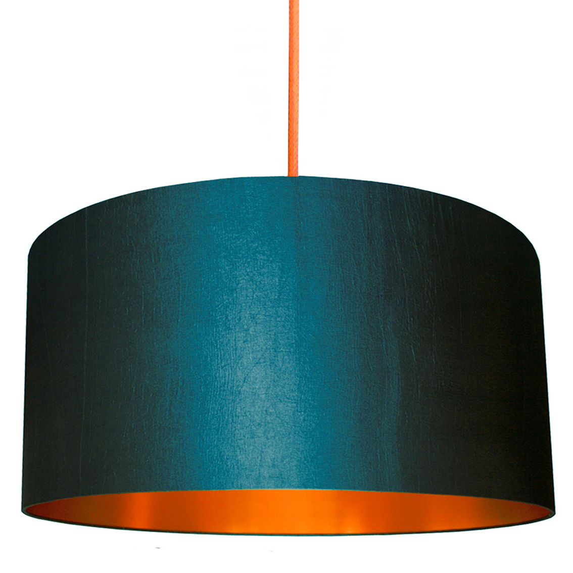 Petrol Lampshade With Brushed Copper Lining Love Frankie