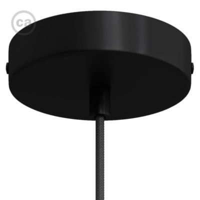 Matt Black Metal Ceiling Rose