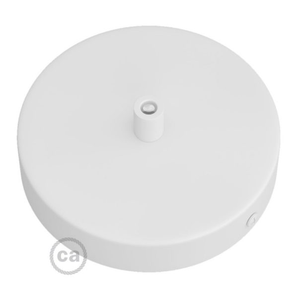Matt White Metal Ceiling Rose