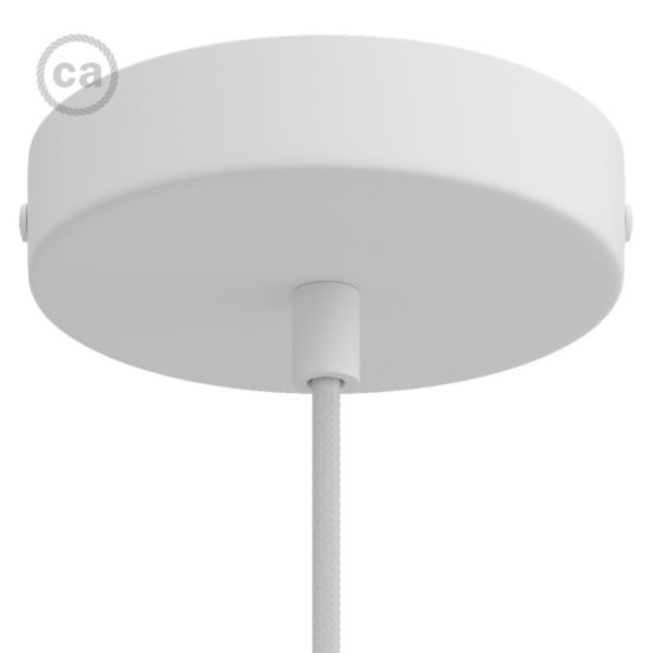 Matt White Ceiling Rose in Metal