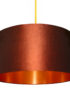 tobacco brown and copper lampshade