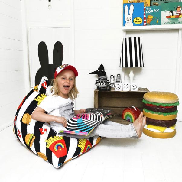 junk food kids pyramid beanbag