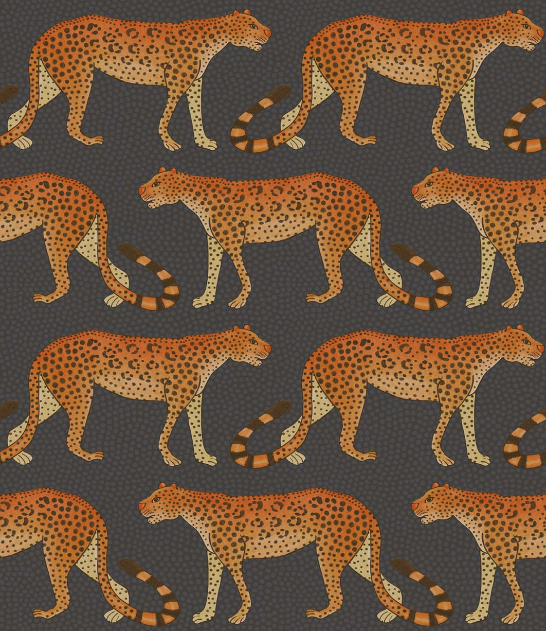 Leopard Walk Cole Son Lampshade In Jet Black