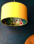 Kooky lemur wallpaper lampshade designed and manufacturered by Love Frankie