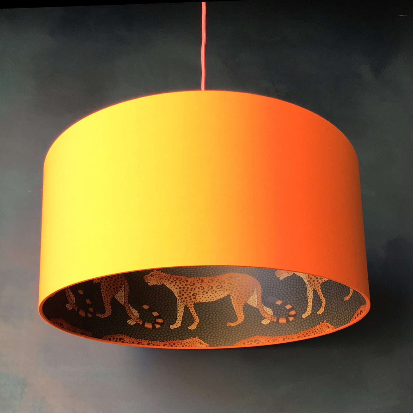 Leopard walk cole son lampshade in tangerine love frankie cole sons leopard aloadofball Image collections