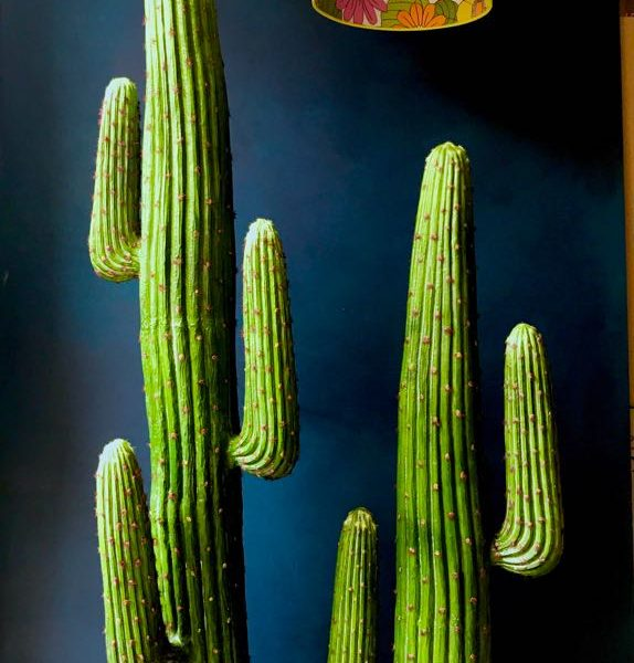 medium faux saguaro artificial cactus - 2 arms | love frankie