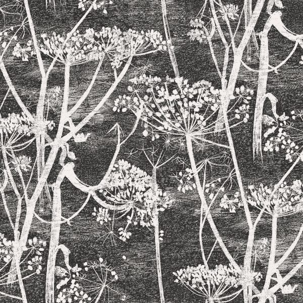 Cole & Son Cow Parsley Charcoal