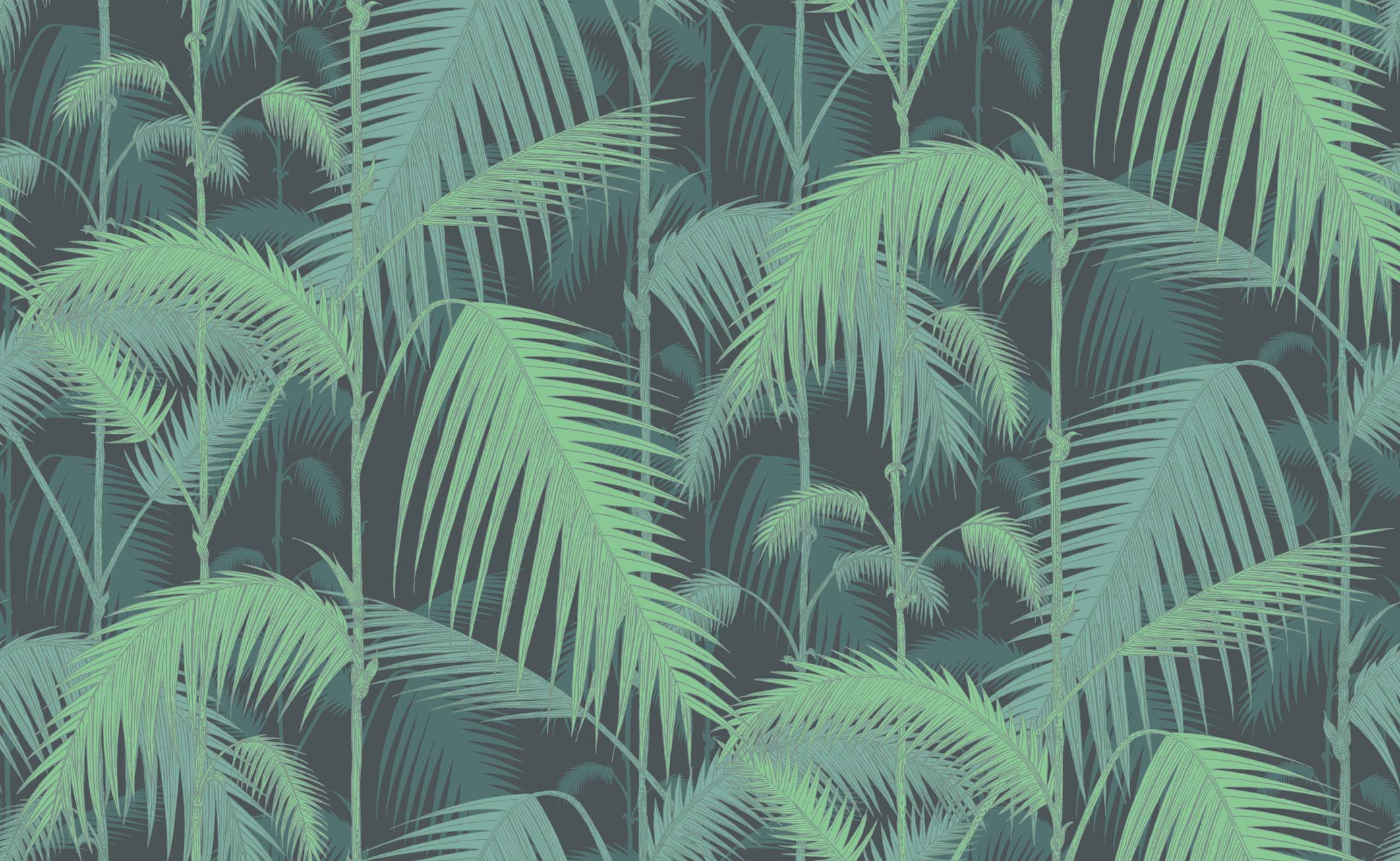 Cole & Son Palm Jungle Wallpaper Handmade Silhouette Lampshade