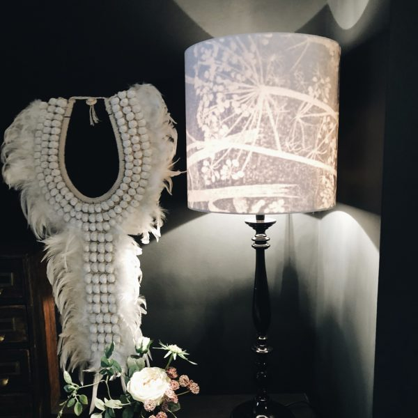 Our Cole & Son's Cow Parsley Silhouette Shade looking all kinds of awesome at the gorgeous Kyla Magrath Pad