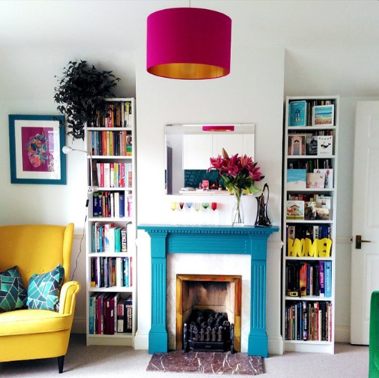 Our Hot pink and gold lampshade looking super hot in @yuyodrinks pad