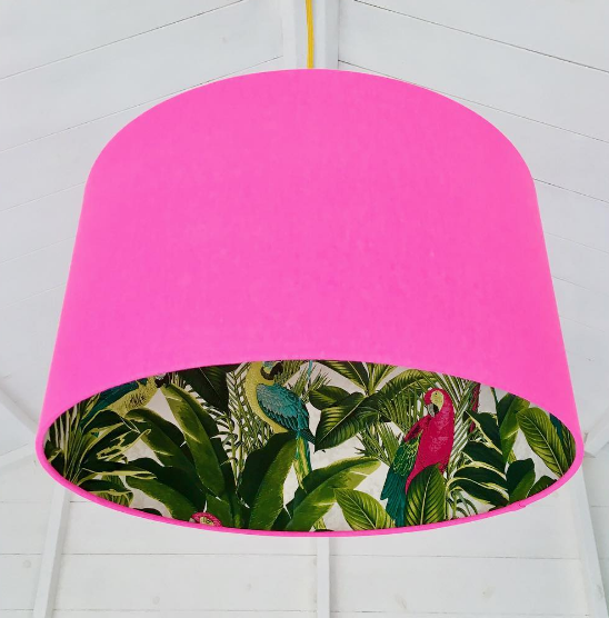 Tropical Palm silhouette lampshade