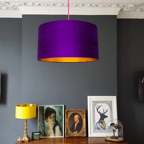 Ultra Violet Purple and Gold Lampshade