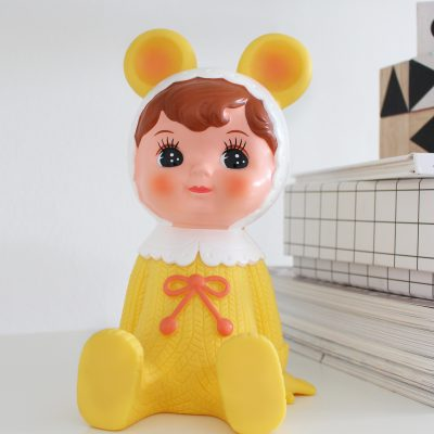Yellow woodland doll moneybox