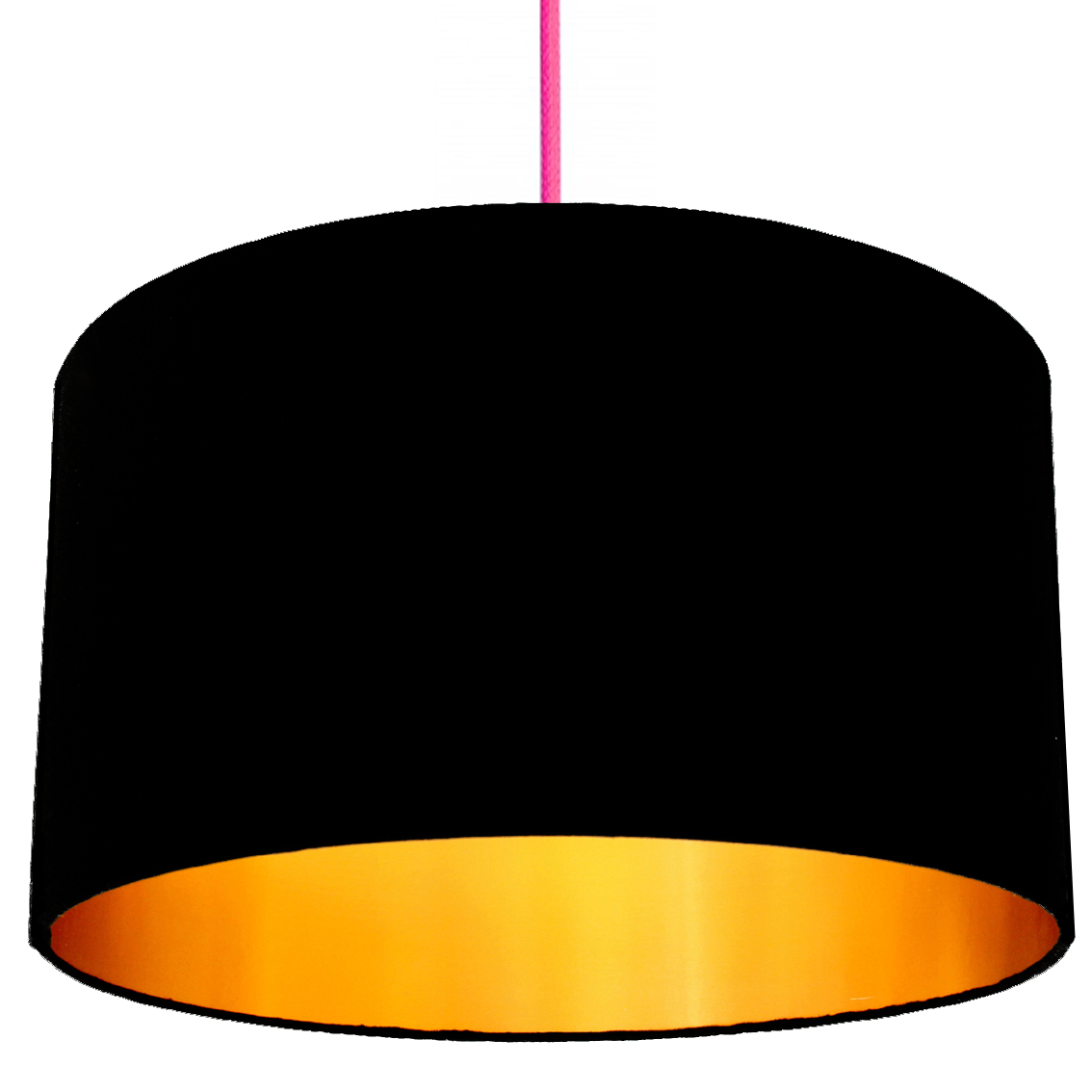 Jet black cotton lampshade with gold lining love frankie black and gold lampshade aloadofball Image collections